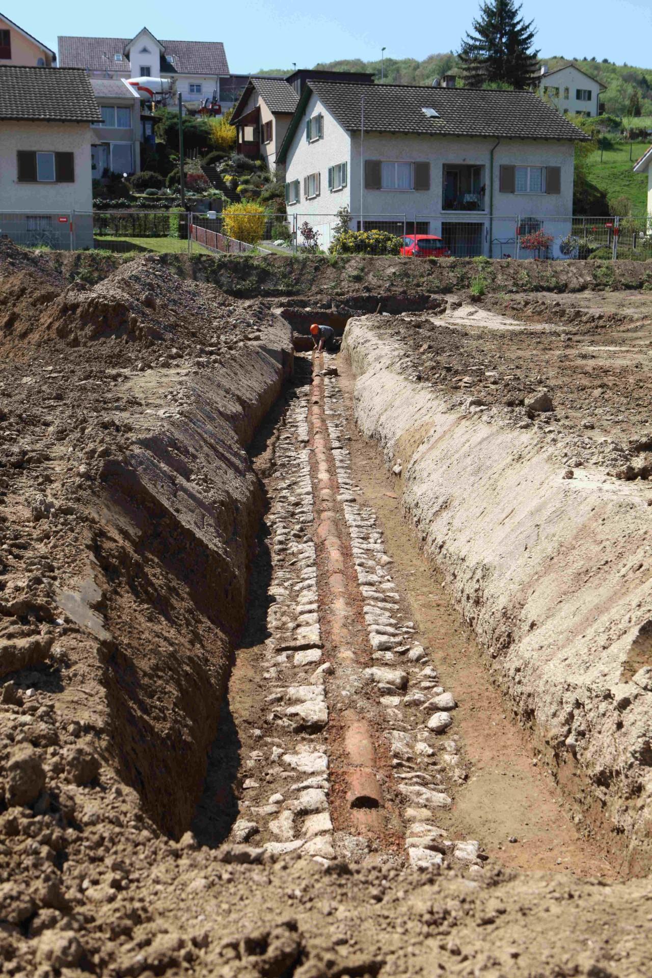 Neue Fricktaler Zeitung | Römische Wasserleitung in Münchwilen